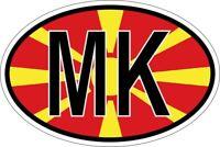 Sticker adesivi adesivo bandiera ovale codice paese mk macedonia