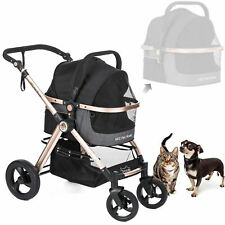 "Pet Rover Primeâ""¢ Luxury 3-in-1 Stroller for Small/Medium Dogs, Cats and Pets (Bl"