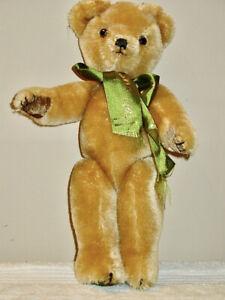 "Vintage  Merrythought Harrods Bear With Original Ribbon 12"" England"