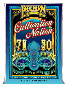 FoxFarm Cultivation Nation 70/30 Coco Coir and Perlite 2 cu ft bag