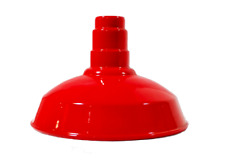 """4 RLM Standard Dome 14"""" Industrial Lighting Fixture Red with Socket - AS14"""
