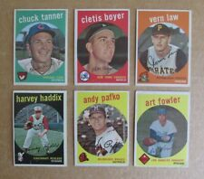 1959 TOPPS BASEBALL SINGLES COMPLETE YOUR SET PICK VG-NRMT COND UPDATED 7/26