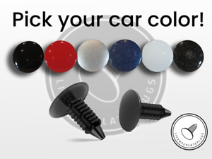 SET OF 4: License Plate Plugs Front License Plate Holes Covers: Pick Your Color!