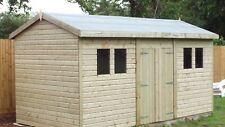 "16 ft x 10 ft 19mm Tanalised ""HEAVY DUTY"" Apex  Shed/workshop"