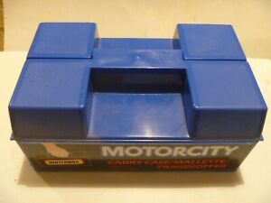 VINTAGE LESNEY MATCHBOX SUPERFAST 24 CAR CARRY CASE MOTORCITY TOOLBOX