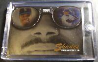 RARE 1997 KEN GRIFFEY JR PINNACLE SHADES DIE CUT FOIL #1 HOF MARINERS (691)