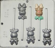 Reindeer  Lollipop Chocolate Candy Mold Christmas  2094 NEW