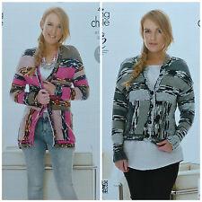 Tejer patrón señoras chaqueta de punto fácil manga larga chaqueta de punto grueso 4025 &