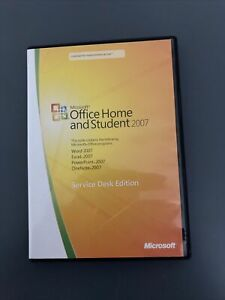 Microsoft Office 2007 Home Office & Student software With Key Word Excel VGC