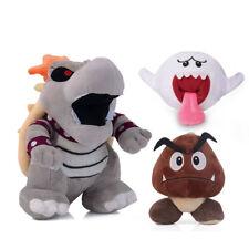 3pcs Super Mario Dry Bowser Bones Koopa,Boo Ghost and Goomba Soft Plush Doll