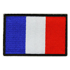 Embroidered French France Flag Sew or Iron on Patch Biker Patch