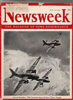 1944 Newsweek May 15 - Nazis hint they have the Atomic Bomb;Aitape;Mormon Choir