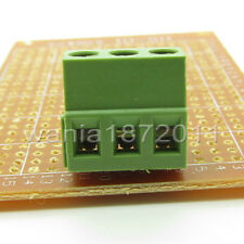 """10 × PCB Screw Terminal Block 3 Pole 0.2"""" 5mm Pin Pitch for 24-12AWG 3 Way 10A"""
