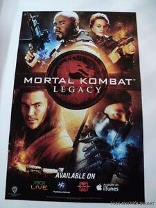 Mortal Kombat Legacy Jeri Ryan Sub-Zero Series SDCC Promotional Poster 11x17 NEW