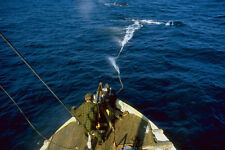 793037 Harpoon Shot At Whale From Cannon By Norwegian Ship A4 Photo Print