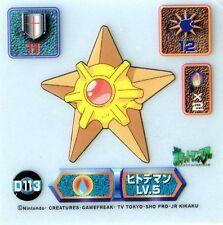 N° 139 STARYU STARI POKEMON KIDS JAPANESE BANDAI CARD 50x70 Ver. 4