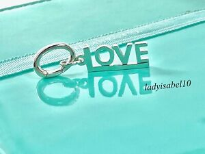 Tiffany & Co. Sterling Silver Love Notes Charm with Oval Clasp Gift w Pouch 211H