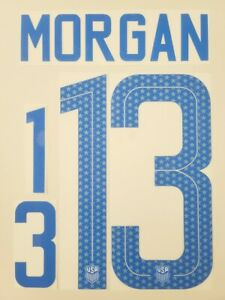 2018/19 USA USWNT #13 Morgan Soccer Away Name Set