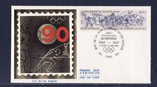 enveloppe 1er jour  Jeux Olympiques  Los Angeles     Paris    1984