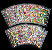 24 Sheets/ Lot NEW Christmas Xmas Nail Art Stickers Decals 3D Design Decoration