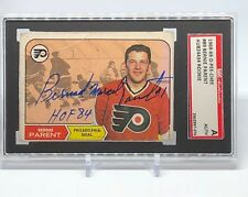 Bernie Parent signed 1968-69 O-Pee-Chee Rookie Card Flyers SGC inscribed C121