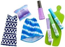 Barbie Love Crayola Tie-Dye fashions 2 Outfits Washable Markers New