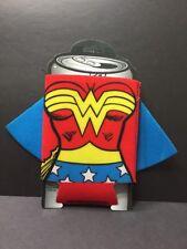 ICUP DC Comics Wonder Woman Huggie Can Beer Koozie Cape WW