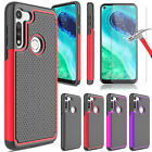 For Motorola Moto G Fast Case Armor Hybrid Rugged Cover / Glass Screen Protector