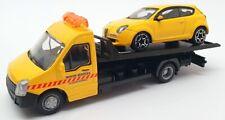 Burago 1/43 Scale #18 31400 - Alfa Romeo Mito Car And Generic Flatbed Truck