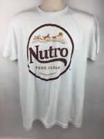 Men's White Nutro Feed Clean Promotional T-Shirt Size L