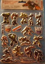 NEW 20 pc TRANSFORMERS Optimus Prime  Bumblebee Metallic Stickers SAVVI