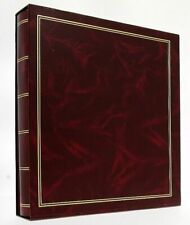 """Red Classic Slip In Photo Album In Box Holds 500 6"""" x 4"""" Photos Travel Gift"""