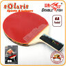Double Fish 6A Table Tennis Bat Ping Pong Racket & 2 Balls Set Penhold Handle