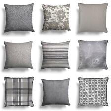 """Grey Cushion Covers Charcoal Silver Sofa Throw Cushion Cover 18"""" x 18""""/17"""" x 17"""""""