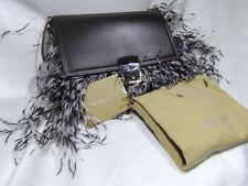 Michael Kors Ostrich Feathers 'Mia' French Calf and Feather Shoulder Bag NWOT