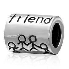 FRIEND Charm Bead 925 Sterling Silver