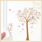 Owl Scroll Bird Tree Removable Wall Sticker DIY Decal Mural Home Room Decor