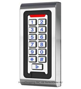 Waterproof IP68 Standalone Door Access Control Keypad Home Door Entry Controller