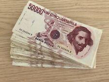 ITALY: Set of 38x 50.000 Lire Banknotes CRAZY STUFF coloured Italian Culture LOT