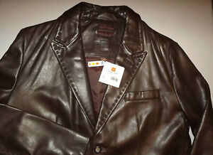 NEW WITH TAGS $498.00  WILSONS LEATHER   Men's BROWN  Leather Jacket LARGE T373
