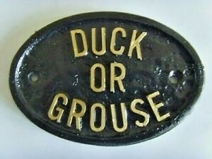 DUCK OR GROUSE  LO BEAMS 'AVOID BUMPING YOUR HEAD' HOUSE SIGN BUSINESS PLAQUE