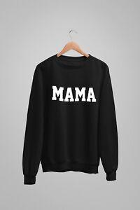 Mama Unisex Fit Crew Neck Sweatshirt Loose Jumper Sweater New Mum Gift Mother