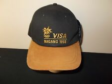 VTG-1998 Winter Olympics Nagano Visa leather brim strapback hat sku10