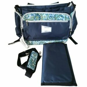 Dads Diaper Bag Baby Kids Backpack Blue Pockets for Dads and Moms by Papasakz