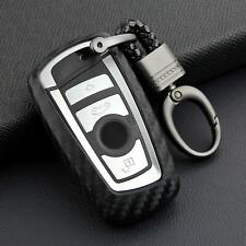 Carbon Fiber Car Key Fob Chain Ring Cover Case For BMW 1 2 3 4 5 6 Series X3 X4