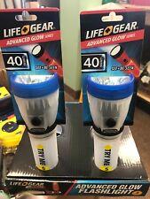 life gear glow flashlight Set Of 2 Blue