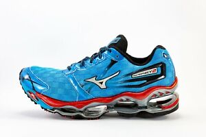 Mizuno Men's Wave Prophecy 2 Running Shoes Royal Blue And Fire Red Size US 10