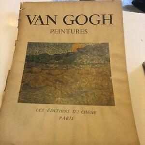 """Van Gogh, 1947 13 Color Prints, 15"""" x 11"""", Peintures Les Editions Du Chene Paris"""