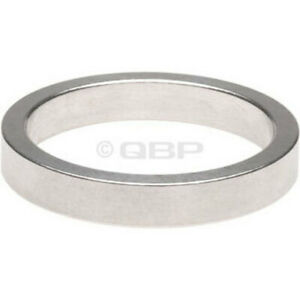 "Wheels Manufacturing 5mm 1"" Headset Spacer Silver Bag/10"