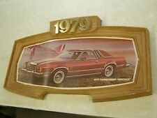 Oem Ford 1979 Thunderbird Heritage Showroom Display Picture